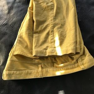 Yellow velvet stopped pants